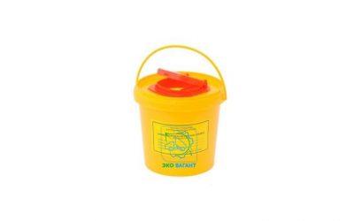 Емкость-контейнер для сбора острого инструментария класса «Б» объем 0,5 л
