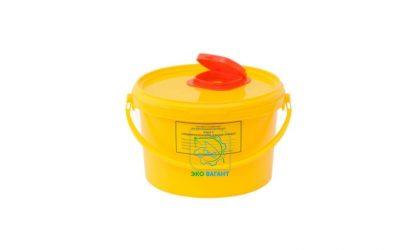 Емкость-контейнер для сбора острого инструментария класса «Б» объем 3 л