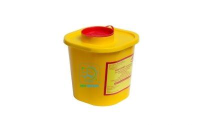 Емкость-контейнер для сбора острого инструментария класса «Б» объем 1 л