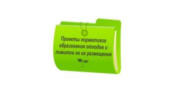 Проект нормативов образования отходов и лимитов на их размещение