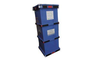 Герметичный специализированный контейнер для сбора, хранения и транспортировки отработанных ртутьсодержащих ламп, боя ламп, ГСК-БРЛ, А, 1250х450х450 мм.