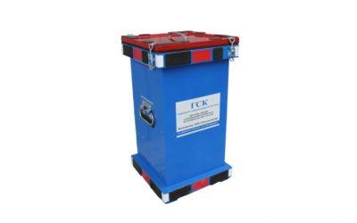 Герметичный специализированный контейнер для сбора, хранения и транспортировки отработанных ртутьсодержащих ламп, боя ламп, ГСК-БРЛ, В, 600х300х300 мм.
